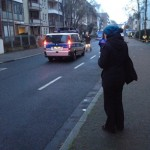Julia recording weird police announcements before Afe Tower explosion in Frankfurt