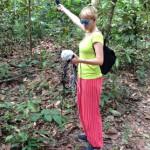 Julia recording @ Bukit Timah Nature Reserve, Singapore