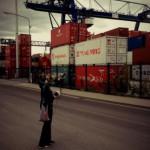 Julia recording @ East Harbour in Frankfurt